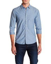 Scotch & Soda - Oxford Long Sleeve Print Slim Fit Woven Shirt - Lyst