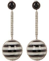 Marc Jacobs - Rhinestone Stripe Ball Drop Earrings - Lyst