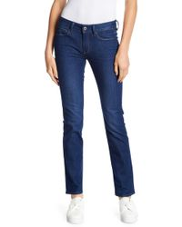 G-Star RAW - 3301 Contour High Straight Jeans - Lyst