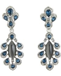Oscar de la Renta - Parlor Swarovski Crystal Accent Drop Clip On Earrings - Lyst