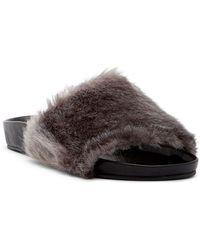 RAYE - Sirius Faux Fur Slide Sandal - Lyst