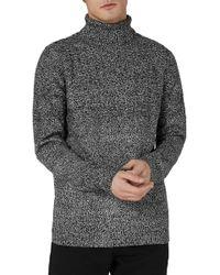 TOPMAN - Twist Roll Neck Sweater - Lyst