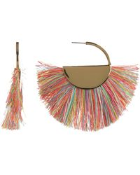 BaubleBar - Bonita Rainbow Fringe Half Moon Drop Earrings - Lyst
