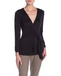 7c7eeb196dd Dress Forum - Knit Wrap Sweater - Lyst