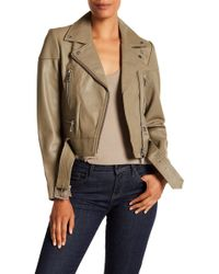 Liebeskind Berlin - Belted Leather Jacket - Lyst