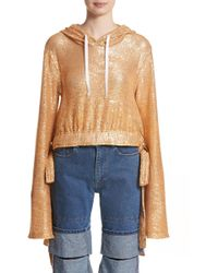 Y. Project | Sequin Drawstring Hoodie | Lyst