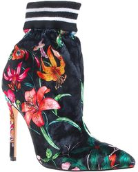 Privileged - Nenny Floral Print Bootie - Lyst