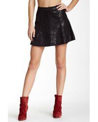 Level 99 - Kenzie Faux Suede Mini Skirt - Lyst