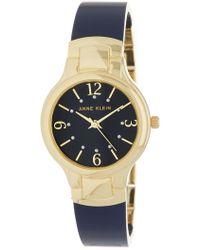 Anne Klein - Women's Gold-tone Round Case Bangle Watch, 30mm - Lyst