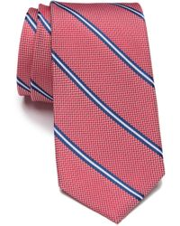 Ben Sherman Silk Striped Tie - Red