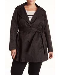 Via Spiga - Faux Leather Trim Scarpa Coat (plus Size) - Lyst