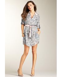 Corey Lynn Calter - Printed Shirt Dress - Lyst