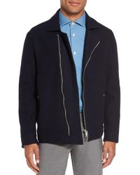 Eleventy | Asymmetrical Wool Moto Jacket | Lyst