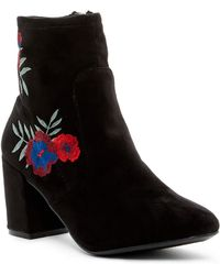 Rampage - Itsie Floral Embroidered Boot - Lyst