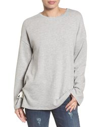 Caslon - (r) Lace-up Side Sweatshirt (regular & Petite) - Lyst