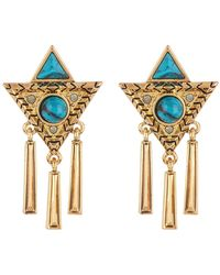 House of Harlow 1960 - Turquoise Statement Earrings - Lyst