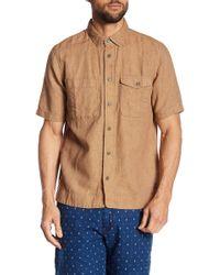 Jeremiah - Texture Short Sleeve Button Shirt - Lyst