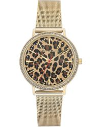 Vince Camuto - Women's Leopard Pattern Mesh Bracelet Watch, 34mm - Lyst