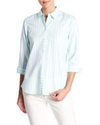 Foxcroft - Ava Striped Shirt - Lyst