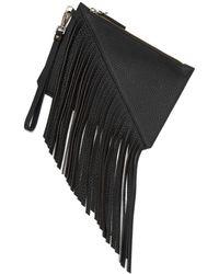 Etienne Aigner - Leather Fringe Moda Wristlet - Lyst