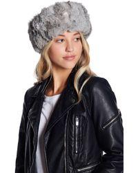 Surell - Genuine Rabbit Fur Headband/scarf - Lyst