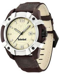 Timberland - Men's Chocorua Leather Strap Watch, 46mm - Lyst