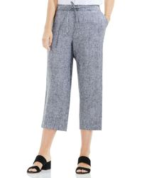 Two By Vince Camuto - Wide Leg Crop Linen Trousers - Lyst