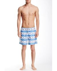 Spenglish - Soccer Player Printed Swim Trunk - Lyst