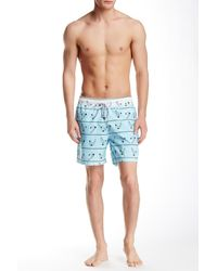 Spenglish - Diver Printed Swim Trunk - Lyst