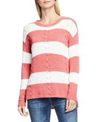 Two By Vince Camuto - Stripe Cable Jumper - Lyst