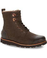 UGG - Hannen Plain Toe Waterproof Boot With Genuine Shearling (men) - Lyst