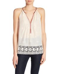 Joie - Eniko O Embroidered Tank Top - Lyst