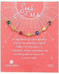 Dogeared | Seek It All Bezeled Bracelet | Lyst