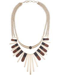 Lucky Brand - Wood Statement Bib Necklace - Lyst
