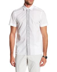 Perry Ellis - Dotted Short Sleeve Shirt - Lyst