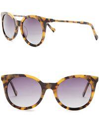 William Rast - Women's 53mm Polarized Round Sunglasses - Lyst