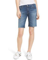 AG Jeans - 'nikki' Distressed Denim Bermuda Shorts (11 Years Sapphire Sky) - Lyst