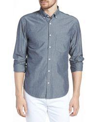 Billy Reid - Kirby Long Sleeve Slim Fit Shirt - Lyst
