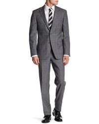 Spurr By Simon Spurr - Glenplaid Notch Lapel Two Button Slim Fit Wool Suit - Lyst
