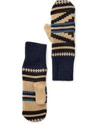 Pendleton - Fleece Lined Merino Wool Mittens - Lyst