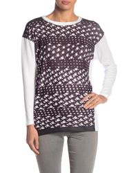 Go Couture - Crew Neck Tunic Sweater - Lyst