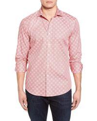 Bugatchi - Shaped Fit Print Sport Shirt - Lyst