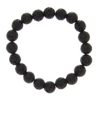 Link Up - Black Lava Bead Bracelet - Lyst