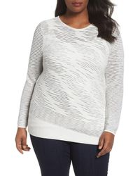 NIC+ZOE - This Is Living Knit Top (plus Size) - Lyst