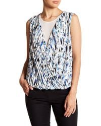 Chelsea and Walker - Surplice V-neck Silk Tank Top - Lyst
