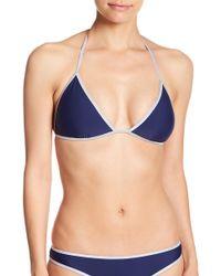 Sam Edelman - Reversible Triangle Bikini Top - Lyst