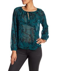 Lucky Brand - Marble Printed Blouse - Lyst