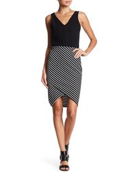 Dex - Stripe Tube Skirt - Lyst