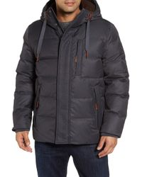 Andrew Marc - Groton Slim Down Jacket With Faux Shearling Lining - Lyst