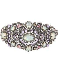 Marchesa - Mother Of Pearl & Crystal Drama Bracelet - Lyst